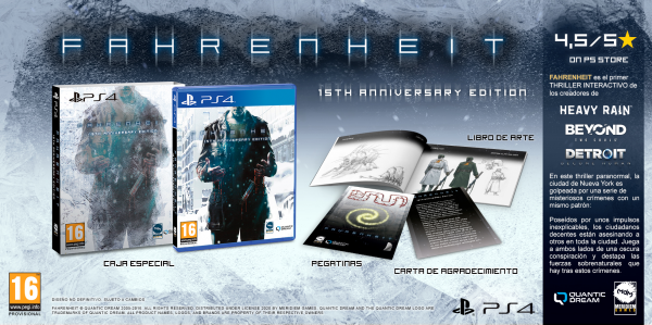 Quantic Dream анонсировала юбилейное коробочное издание Fahrenheit для PlayStation 4